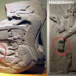 The mystery handbag of the Gods: Depicted in Sumer, America, and Göbekli Tepe