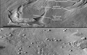 Ice-rich flow features in Martian southern hemisphere reveal effects of recent climate cycles
