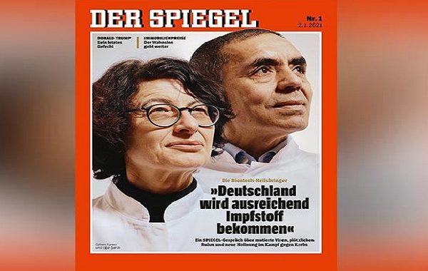 Alman Dergisi Der Spiegel, 2021'in İlk Kapak Fotoğrafında İki Türk Bilim İnsanını Öne Çıkardı