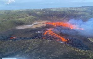 Icelandic volcano subsiding