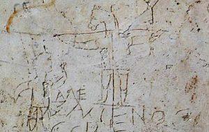 Çarmıha Gerilmenin En Eski Resmi, Hristiyanlık Karşıtı Eşek Başlı Bir Grafiti Keşfedildi