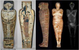 Dünyanın İlk Hamile Kadın Mumyası, Horusun 4 Oğlunu Temsil Eden Muskayla Birlikte Keşfedildi