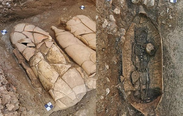 Dev Küplerin İçinde 4. Yüzyıla Ait İskeletlerin Olduğu Nekropol Bulundu
