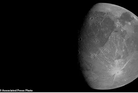 Juno, Güneş Sisteminin En Büyük Uydusunun Görüntülerini Yanı Başından Çekti