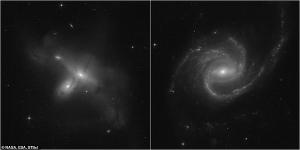 Hubble Tarafından Çekilen Bir Görüntü Üç 'Kollu' Tuhaf Bir Galaksiyi Gösteriyor