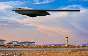 ABD Nükleer Silah Taşıyacak Gizli Bombardıman Uçağının Görselini Paylaştı
