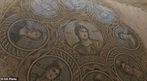 Roman 'dining room' cut from rock is discovered underneath 50 feet of earth in Turkey's 'House of the Muses'