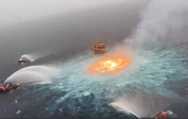 Meksikada Okyanus Yüzeyinde Yangın Çıktı: Mavi Sular Cehenneme Dönüştü