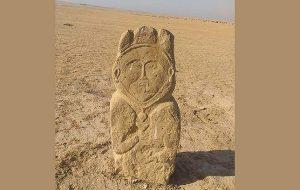 Kazakistanda Antik Türk Dönemine Ait 1300 Yıllık Taş Heykel Bulundu