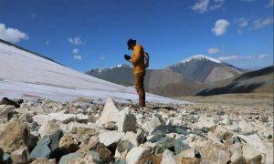 Melting Mongolian ice reveals