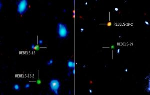 ALMA Spots Two Dust-Obscured Galaxies in Early Universe