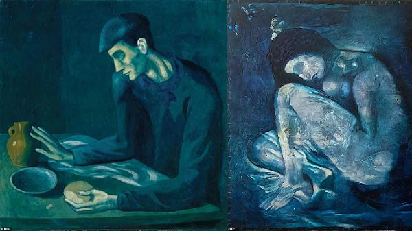 """Yapay Zeka """"Kör Adamın Yemeği"""" Tablosunda Picasso'nun Sakladığı Çıplak Kadını Ortaya Çıkardı"""